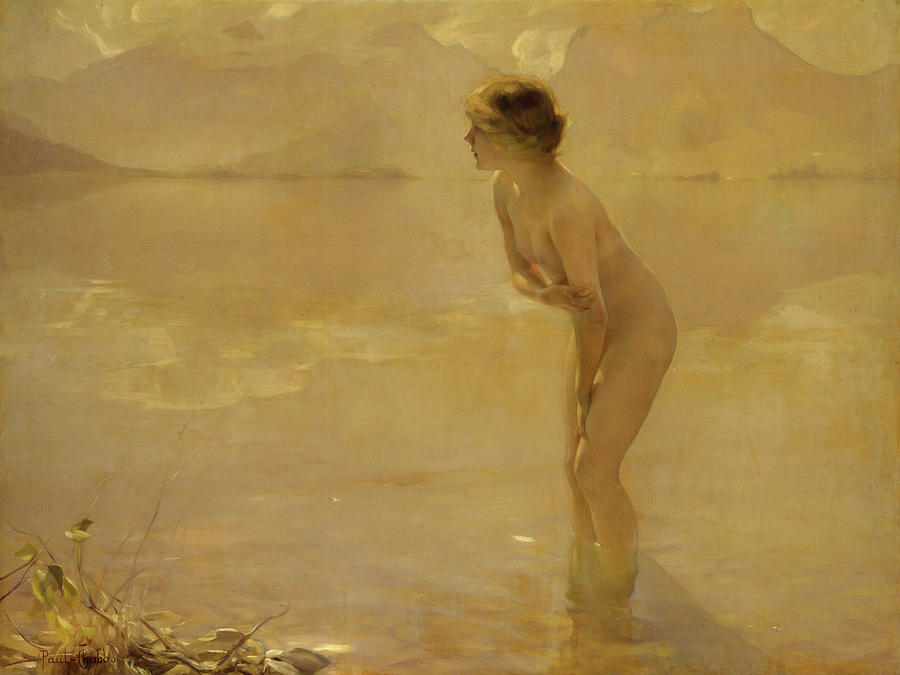 French Painters Painting - September Morn by Paul Chabas