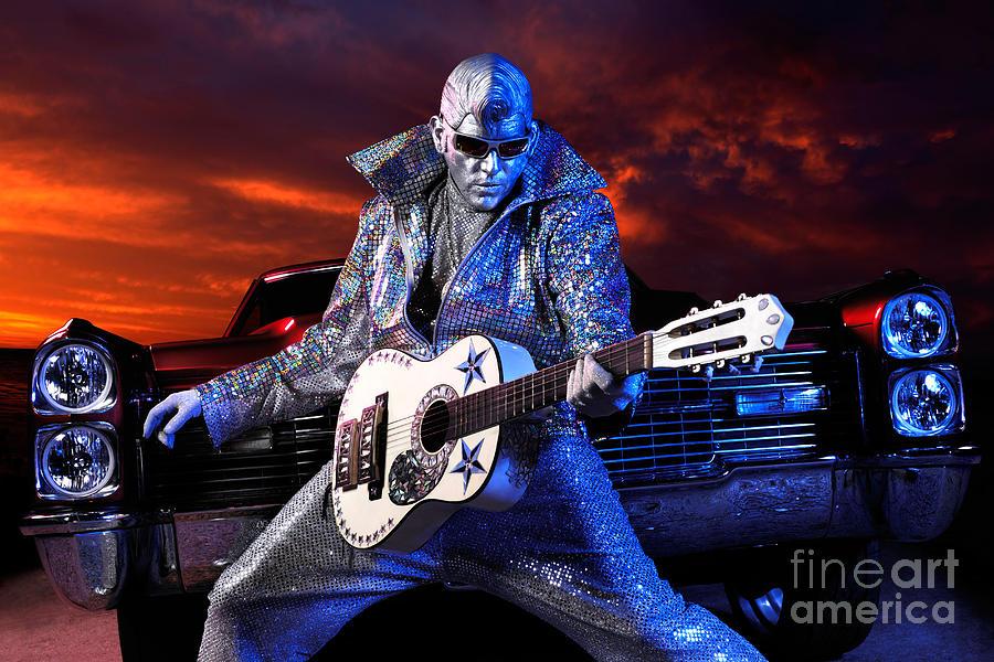 Elvis Photograph - Silver Elvis by Oleksiy Maksymenko
