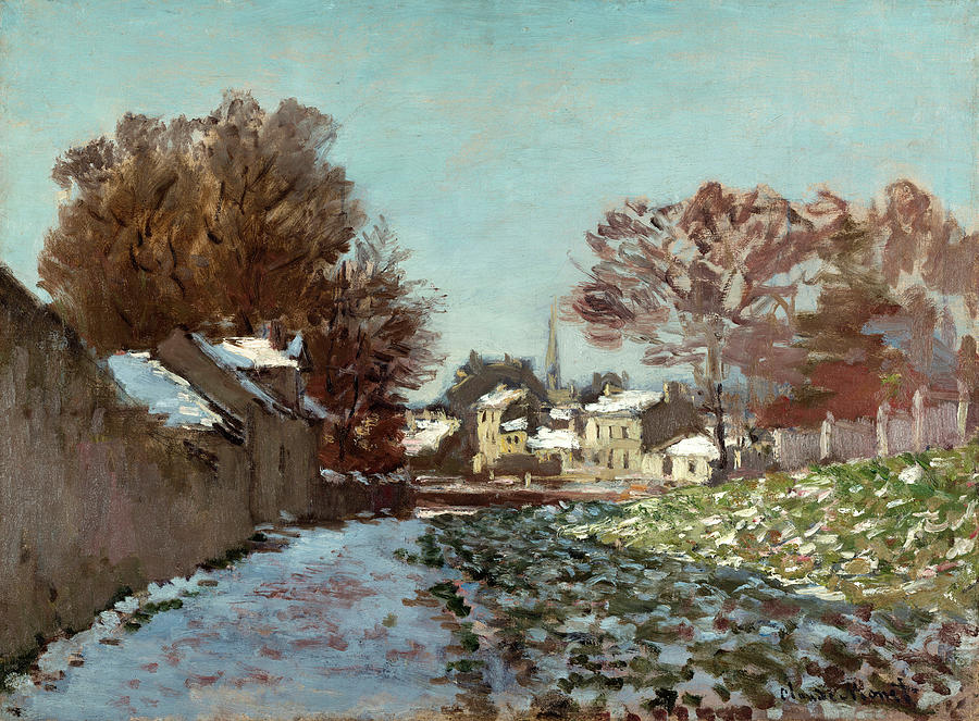 Snow At Argenteuil Painting - Snow At Argenteuil by Claude Monet