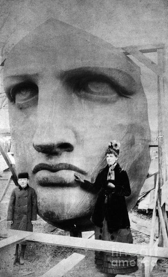 1885 Photograph - Statue Of Liberty, 1885 by Granger