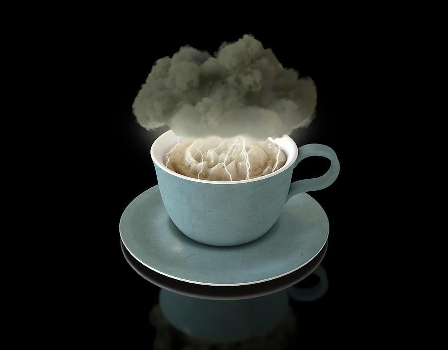 Storm In A Teacup Digital Art - Storm In A Teacup by Allan Swart