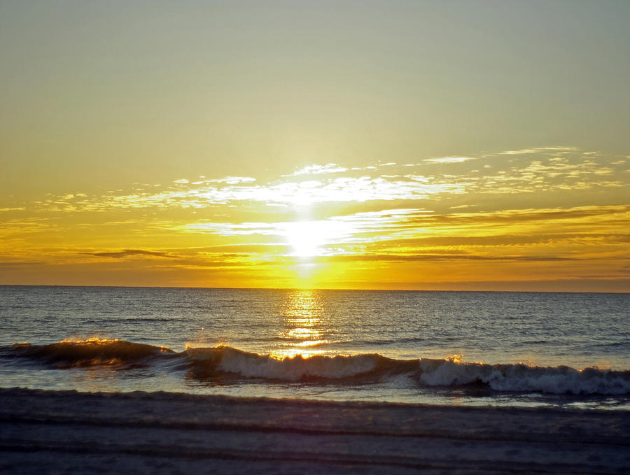 Ocean Photograph - Sunrise by Gregory Letts