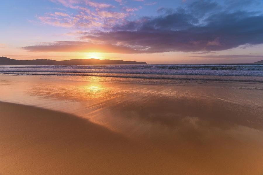 Umina Photograph - Sunrise Seascape At The Beach by Merrillie Redden