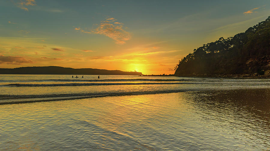 Umina Beach Photograph - Sunrise Seascape From The Beach by Merrillie Redden