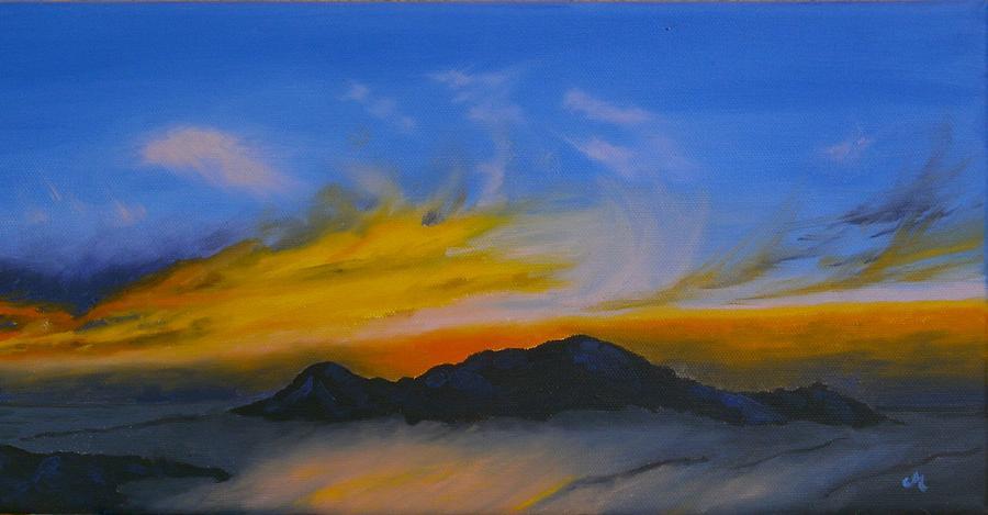 Sunset Painting - Sunset 3 by Maria Woithofer