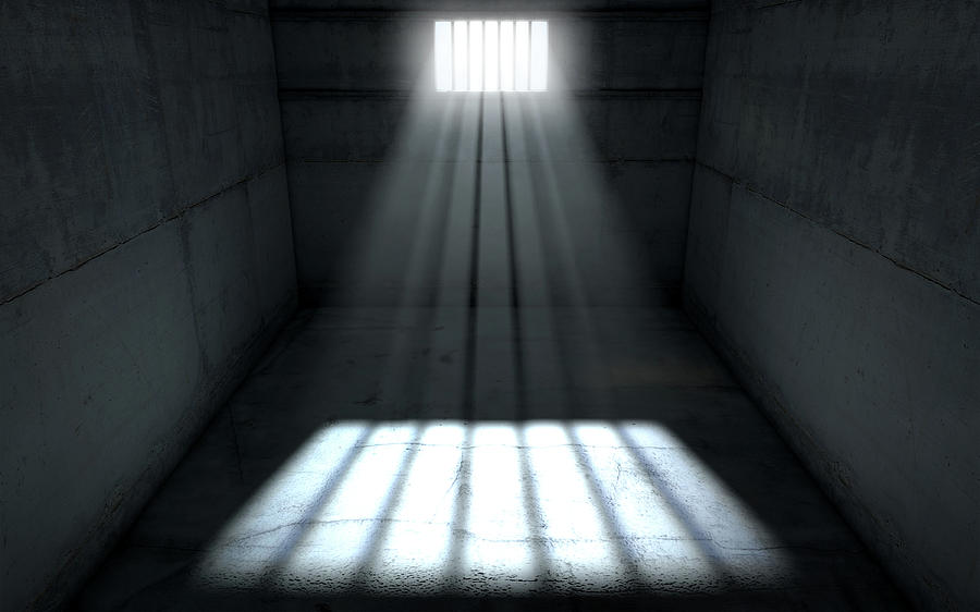 sunshine shining in prison cell window digital art by allan swart