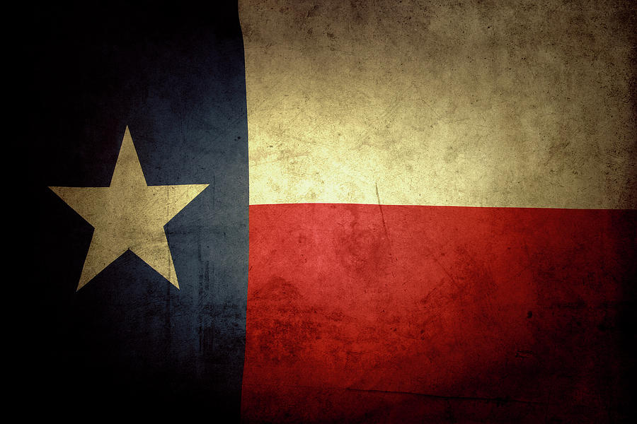 Flag Photograph - Texas flag by Les Cunliffe