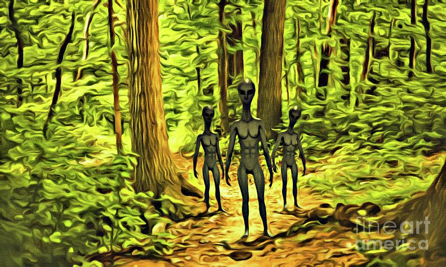 The Aliens Are Here Digital Art