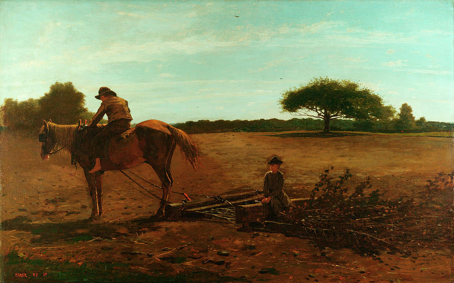 Brush Painting - The Brush Harrow by Winslow Homer