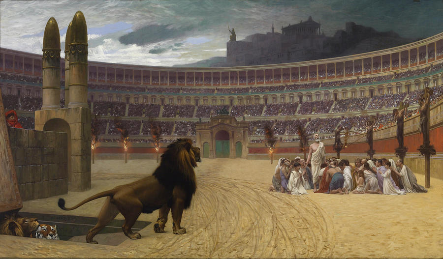 Rome Painting - The Christian Martyrs Last Prayer by Jean-Leon Gerome