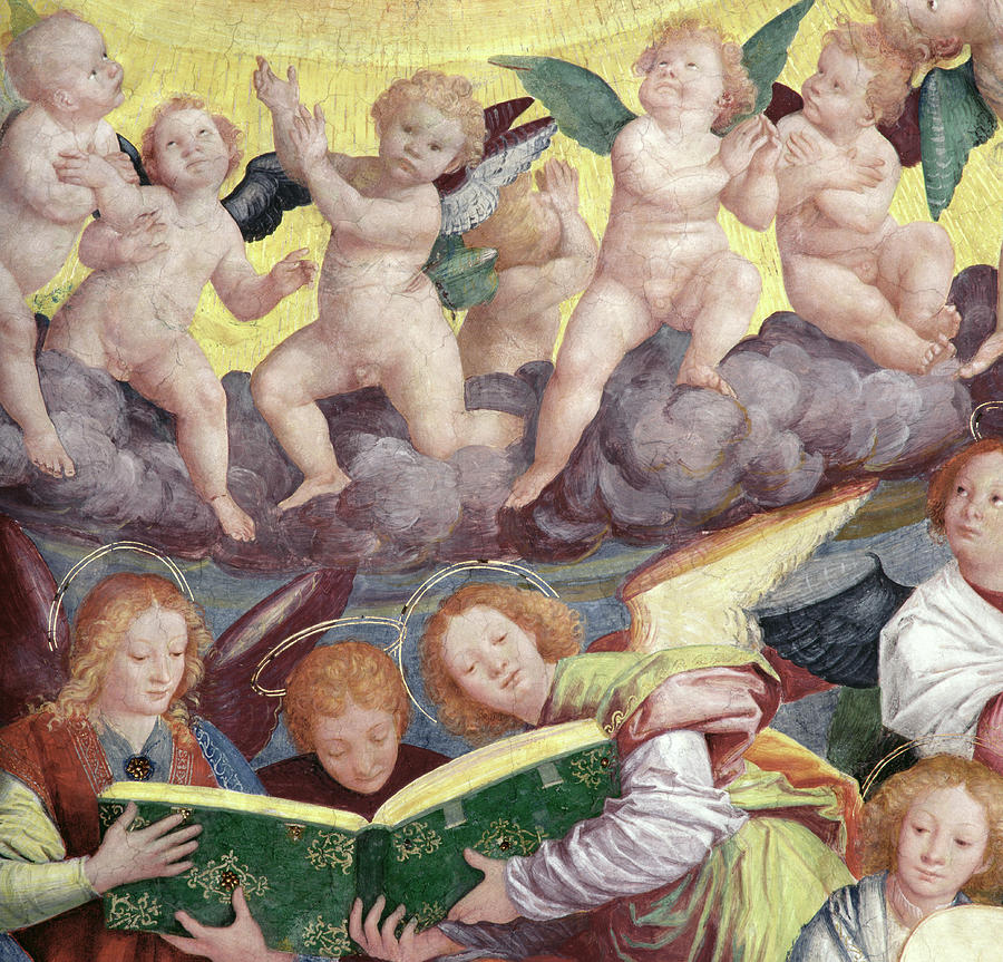 Dome Painting - The Concert Of Angels by Gaudenzio Ferrari