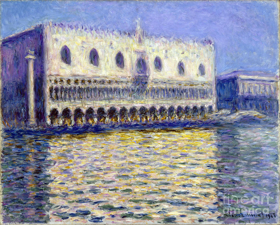 Claude Painting - The Doges Palace by Claude Monet
