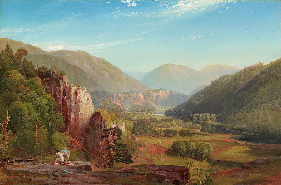 Moran Painting - The Juniata, Evening by Thomas Moran
