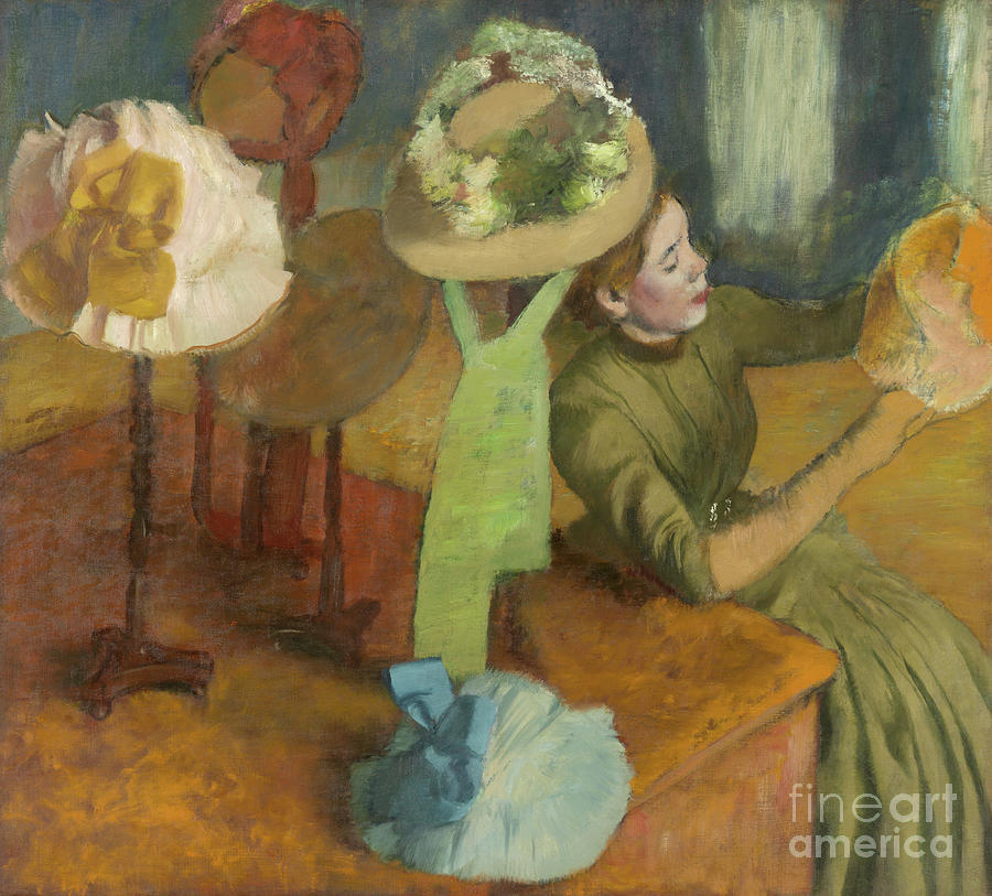 Degas Painting - The Millinery Shop by Edgar Degas