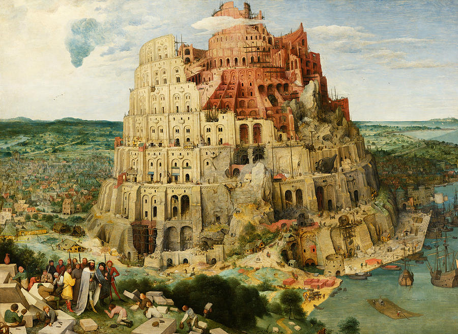 Renaissance Painters Painting - The Tower Of Babel  by Pieter Bruegel the Elder