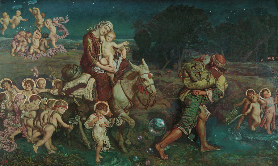 Triumph Painting - The Triumph Of The Innocents by William Holman Hunt