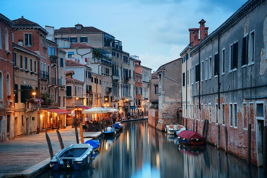 Venice Photograph - Venice Canal by Songquan Deng