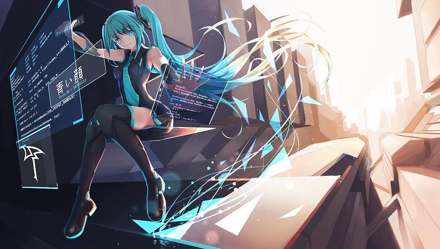 Vocaloid Digital Art - Vocaloid by Dorothy Binder