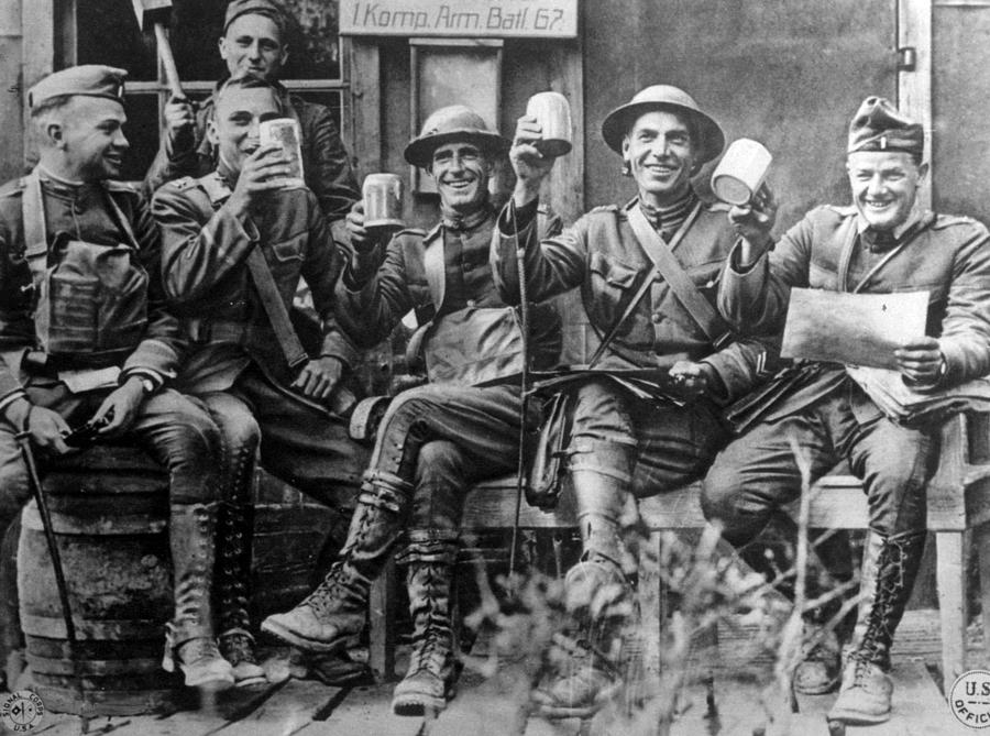 1910s Photograph - World War I, American Soldiers by Everett