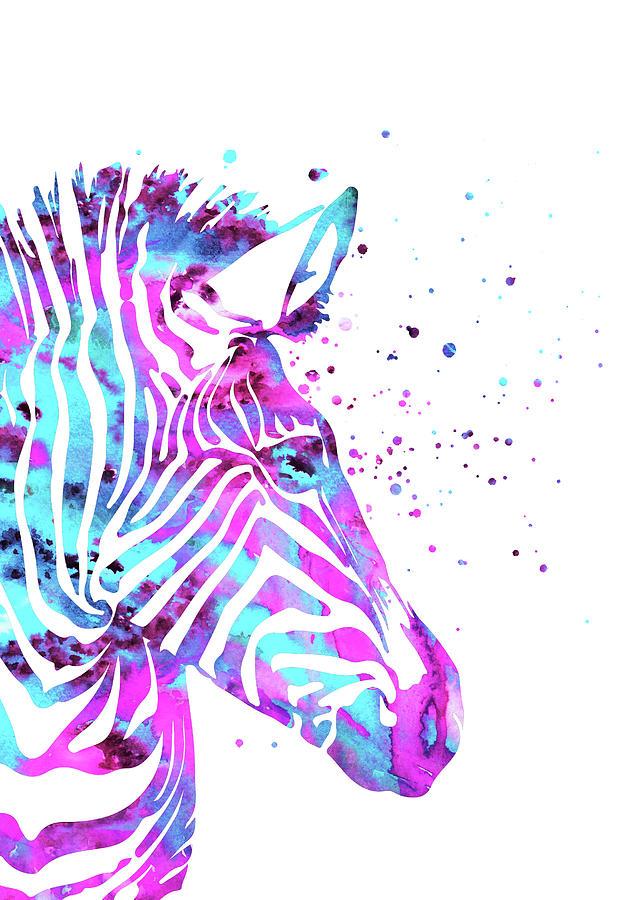 Zebra Painting - Zebra by Rosalia S