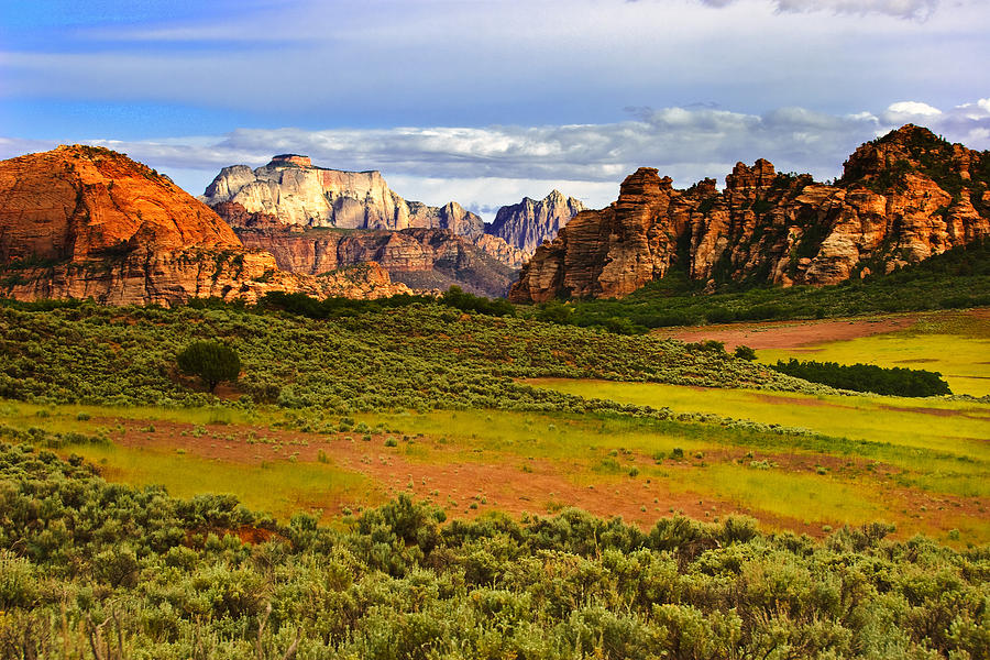 Zion National Park Photograph - Zion National Park Utah by Utah Images