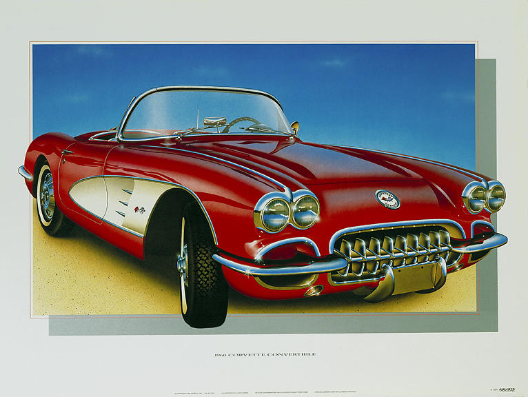 Cars Painting - 60 Corvette by Hugo Prado