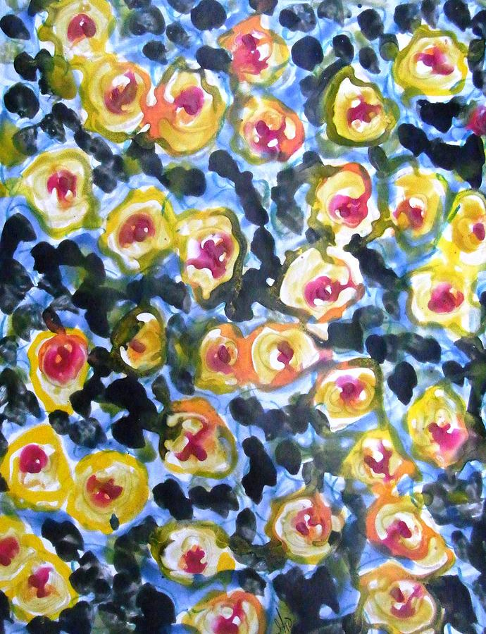 Flowers Painting - Divine Flowers by Baljit Chadha