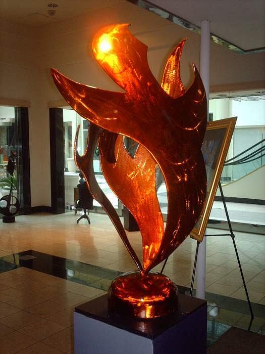 Flame Runner Sculpture by Jerry Schmidt