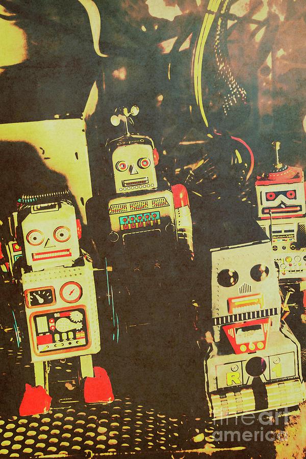 Cyborg Photograph - 60s Cartoon Character Robots by Jorgo Photography - Wall Art Gallery