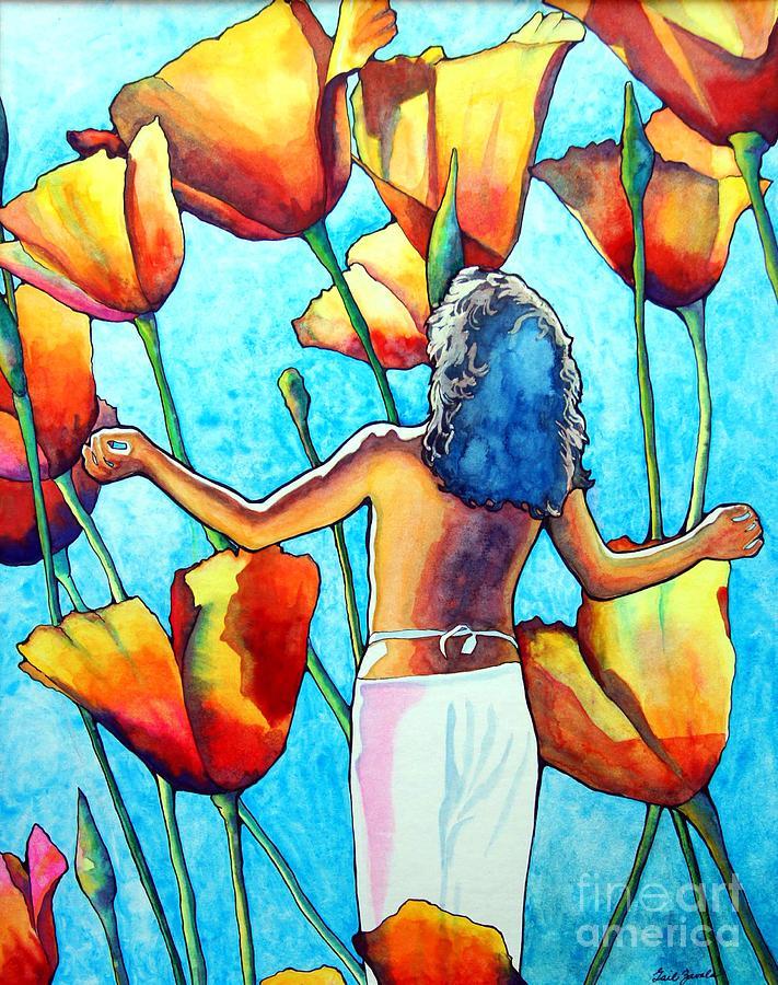 Woman Painting - 60s Meditation by Gail Zavala