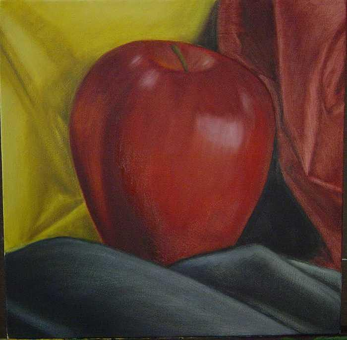 Red Apple Painting by Christian Lee