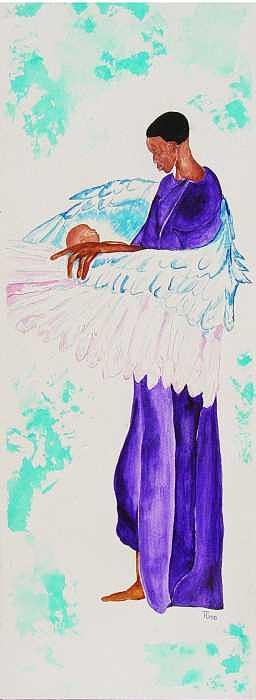 Guardian Angel Painting by TH Gomillion