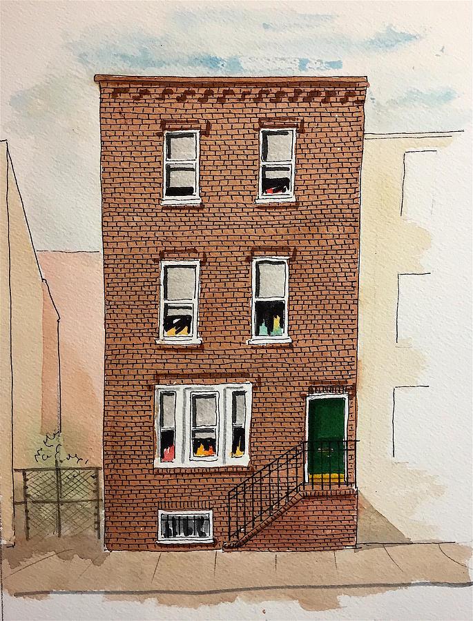 Philadelphia Painting - 615 South Delhi St. by William Renzulli
