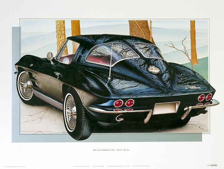 Cars Painting - 63 Corvette by Hugo Prado