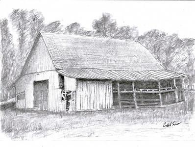 Drawing Drawing - Pas Barn by Crystal Sons