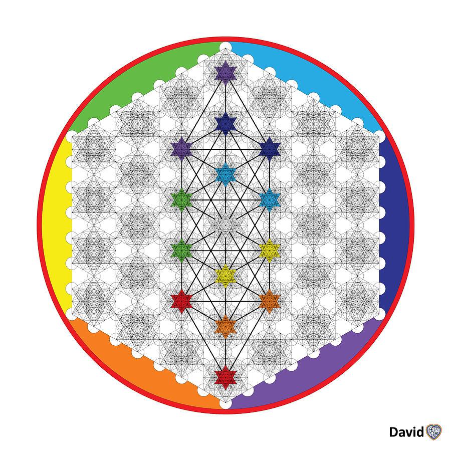 64 Tetra Chakra Activation Grid Digital Art by David Diamondheart