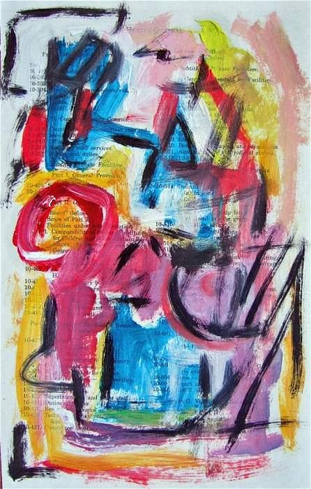 Abstract Painting - Abstract On Paper No. 27 by Michael Henderson