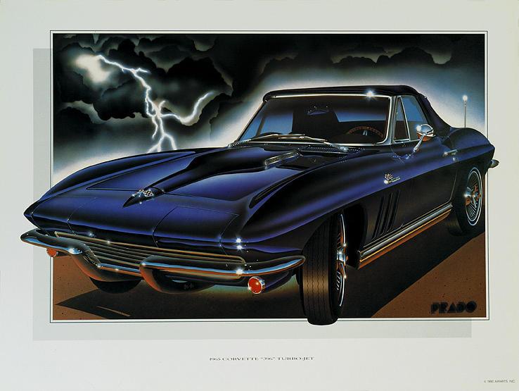 Cars Painting - 65 Corvette by Hugo Prado
