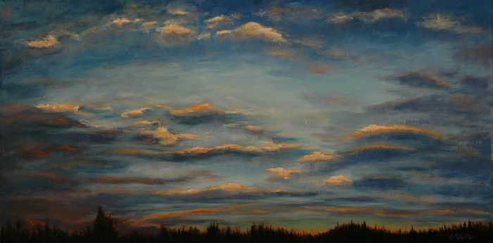 Days End Painting by Colleen Murphy