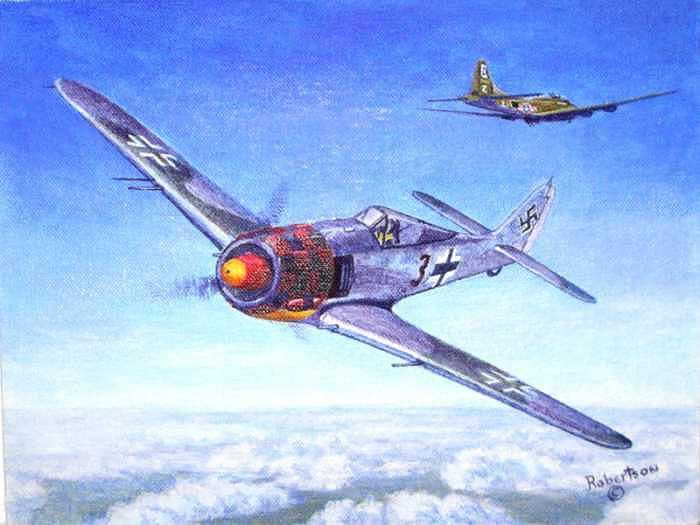 1943 Painting - Fw-190 Of Jg 1 by Scott Robertson