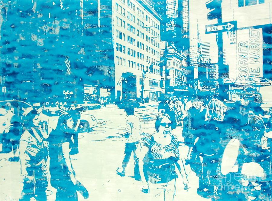 Silkscreen Painting - 665 Fifth Avenue New York City by Jonathan Deutsch