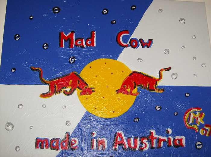 Acrylic Painting - Mad Cow by Michaela Gilt