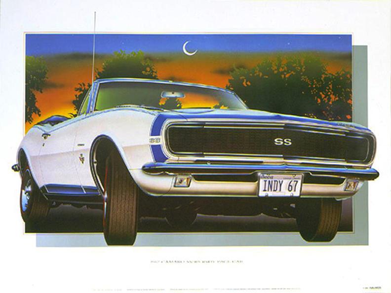 Cars Painting - 67 Camaro by Hugo Prado