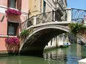 Bridge Photograph - Colorful Venetian Bridge by Stephanie Elenbaas