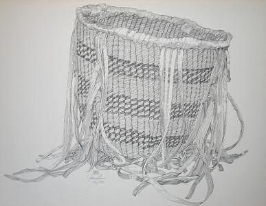 Limited Edition Drawing - Burden Basket by Joanie Arvin