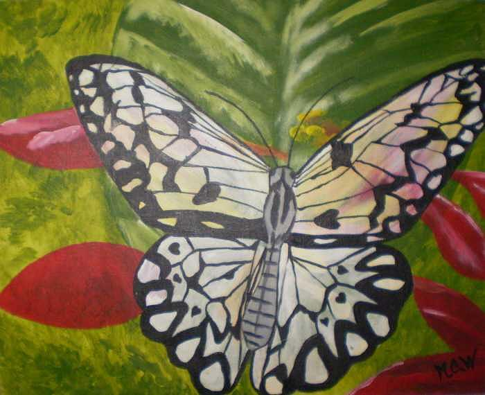 Butterflies Painting - Glory Days Original by Christine Ward