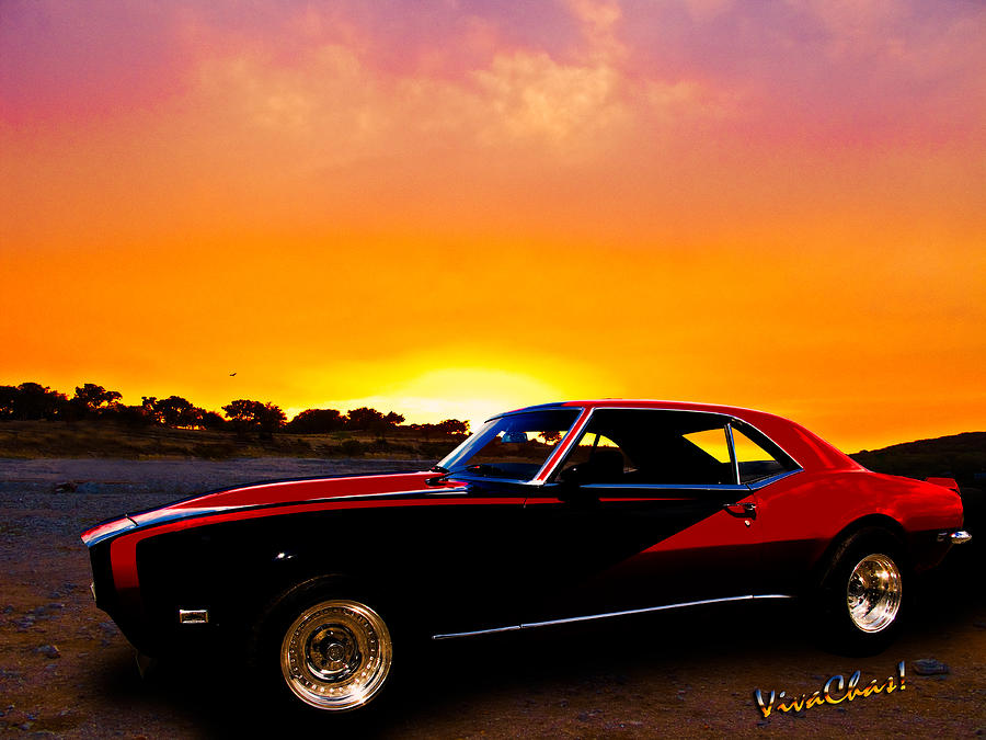 67 Photograph - 69 Camaro Up At Rocky Ridge For Sunset by Chas Sinklier