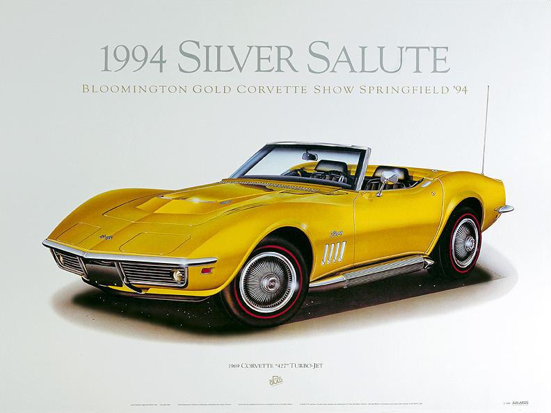Cars Painting - 69 Corvette by Hugo Prado