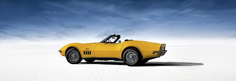 Corvette Digital Art - 69 Corvette Sting Ray by Douglas Pittman