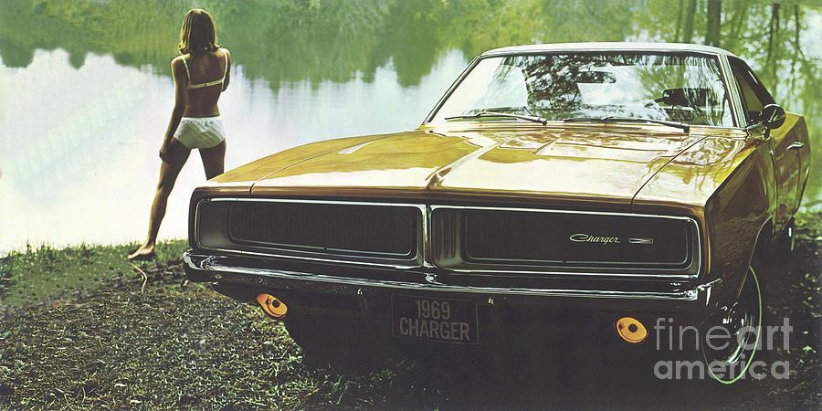 69 Dodge Charger Digital Art By Steven Parker